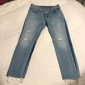Levi 501 High-Waisted Button Fly Jeans
